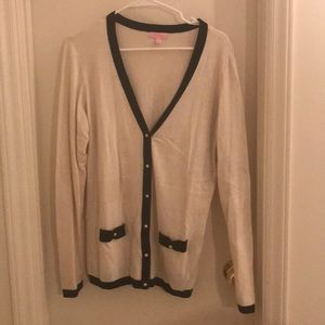 Lilly Pulitzer Button up cardigan XL